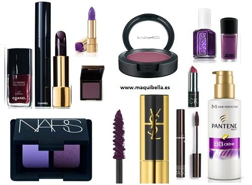 maquillaje violeta