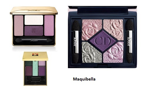 paletas de ojos violeta
