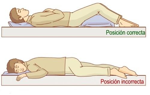postura al dormir