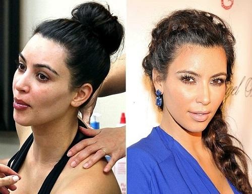 kim kardashian sin maquillar