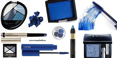 sombras en tonos azules