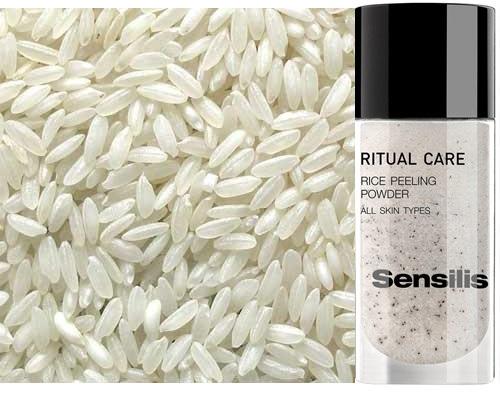 arroz para suavizar la piel