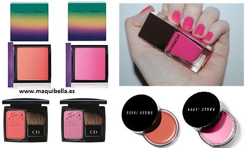 maquillaje rosa y coral