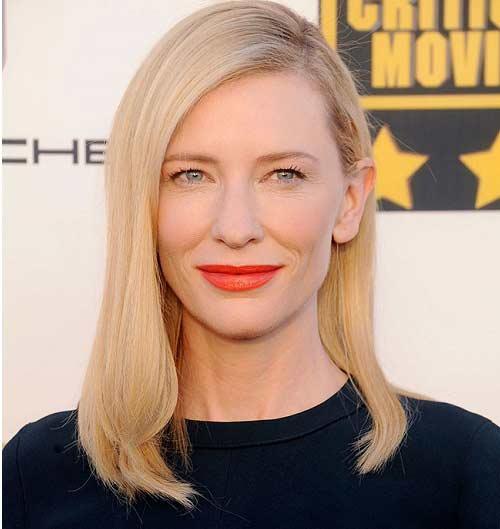 Cate Blanchett labios naranja