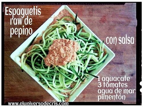 spaghetti crudiveganos